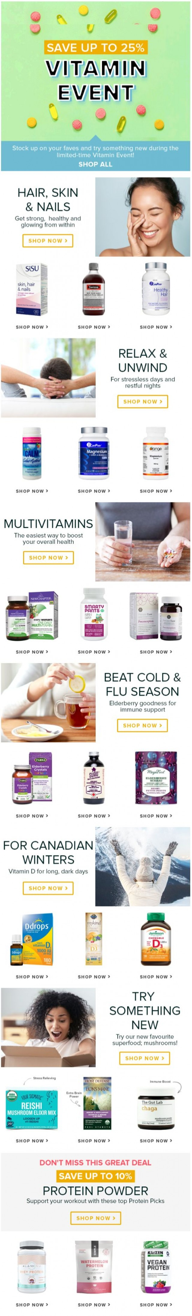 Coupon for: Well.ca - ONLY 5 DAYS LEFT: Save up to 25% off the Vitamin Event!