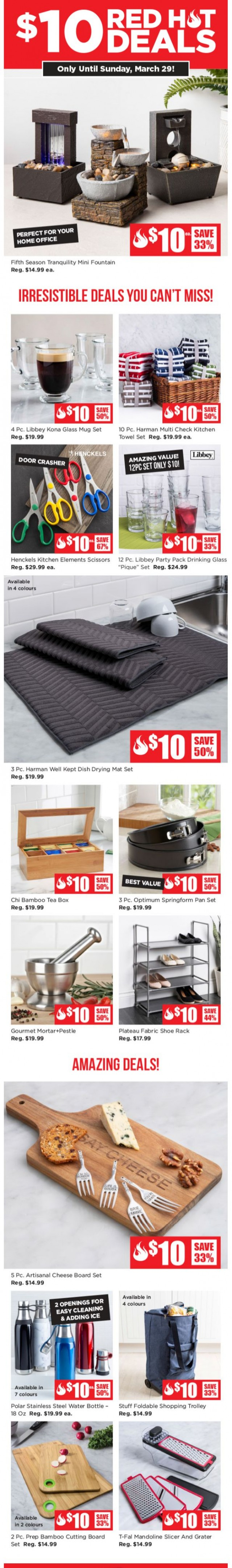Coupon for: Kitchen Stuff Plus - $10 Red Hot. Deals Are Here!