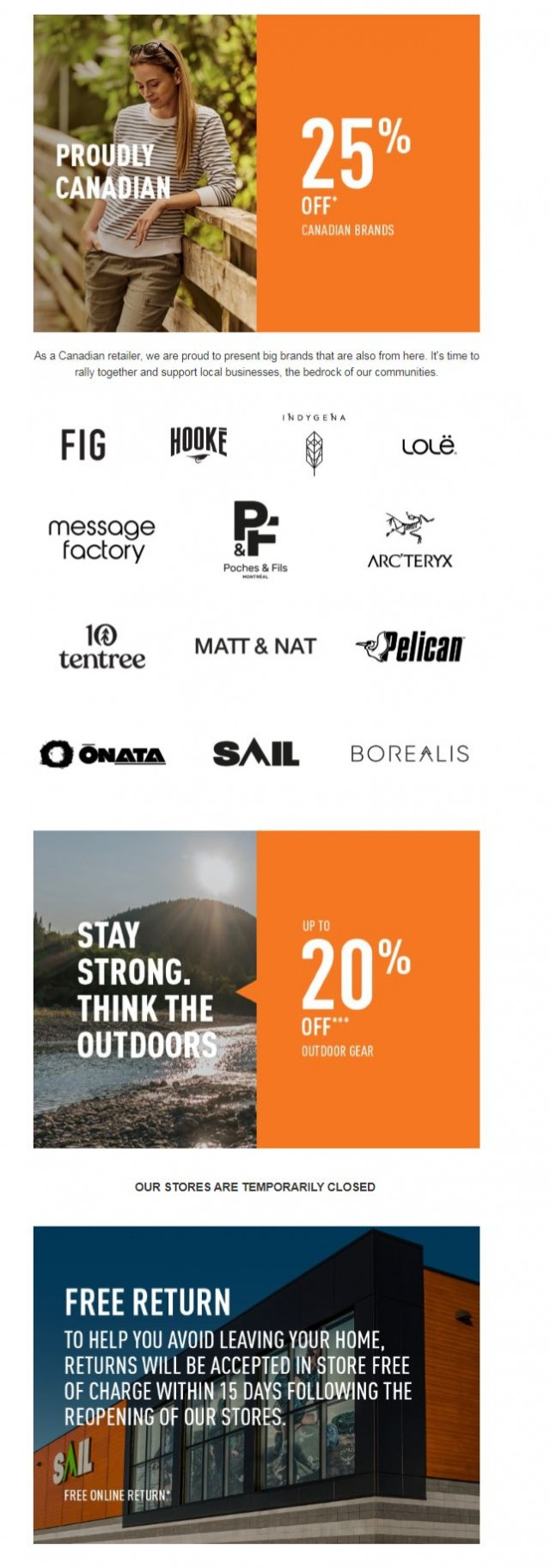 Coupon for: SAIL - Support our Canadian brands + save!