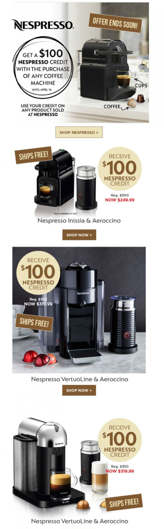 Coupon for: Kitchen Stuff Plus - Stay Home With Nespresso