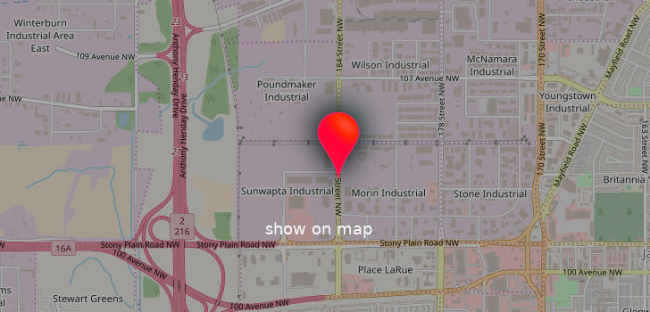 Map of Sunridge Mall location