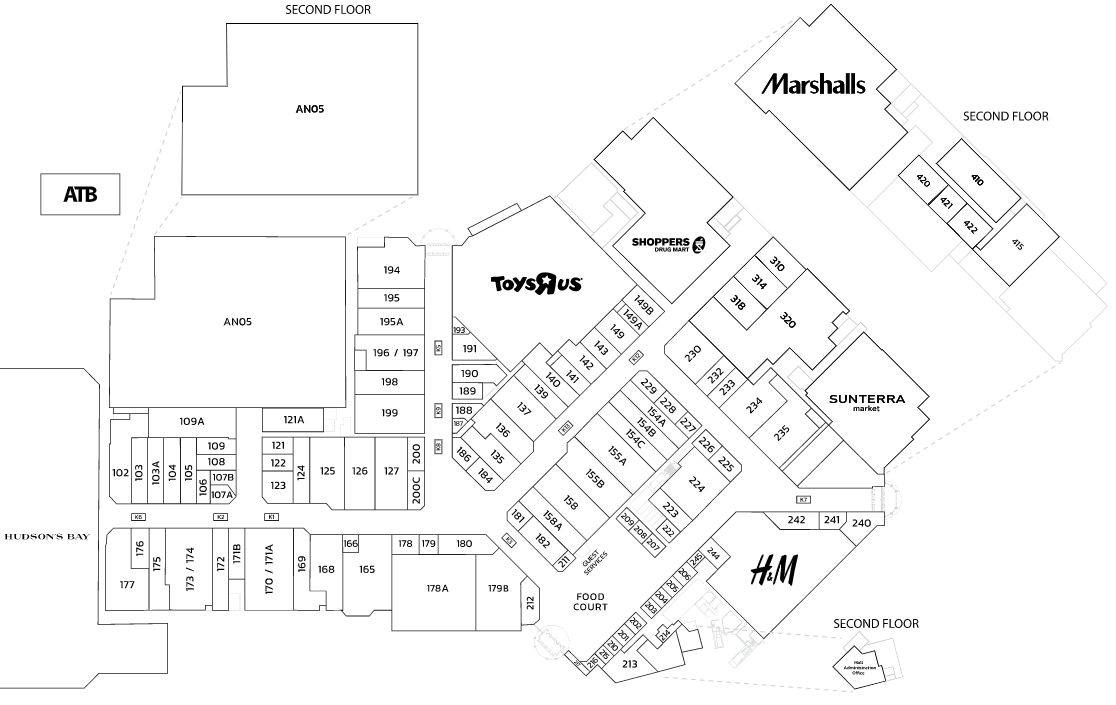 Bower Place In Red Deer Alberta 121 Stores Location