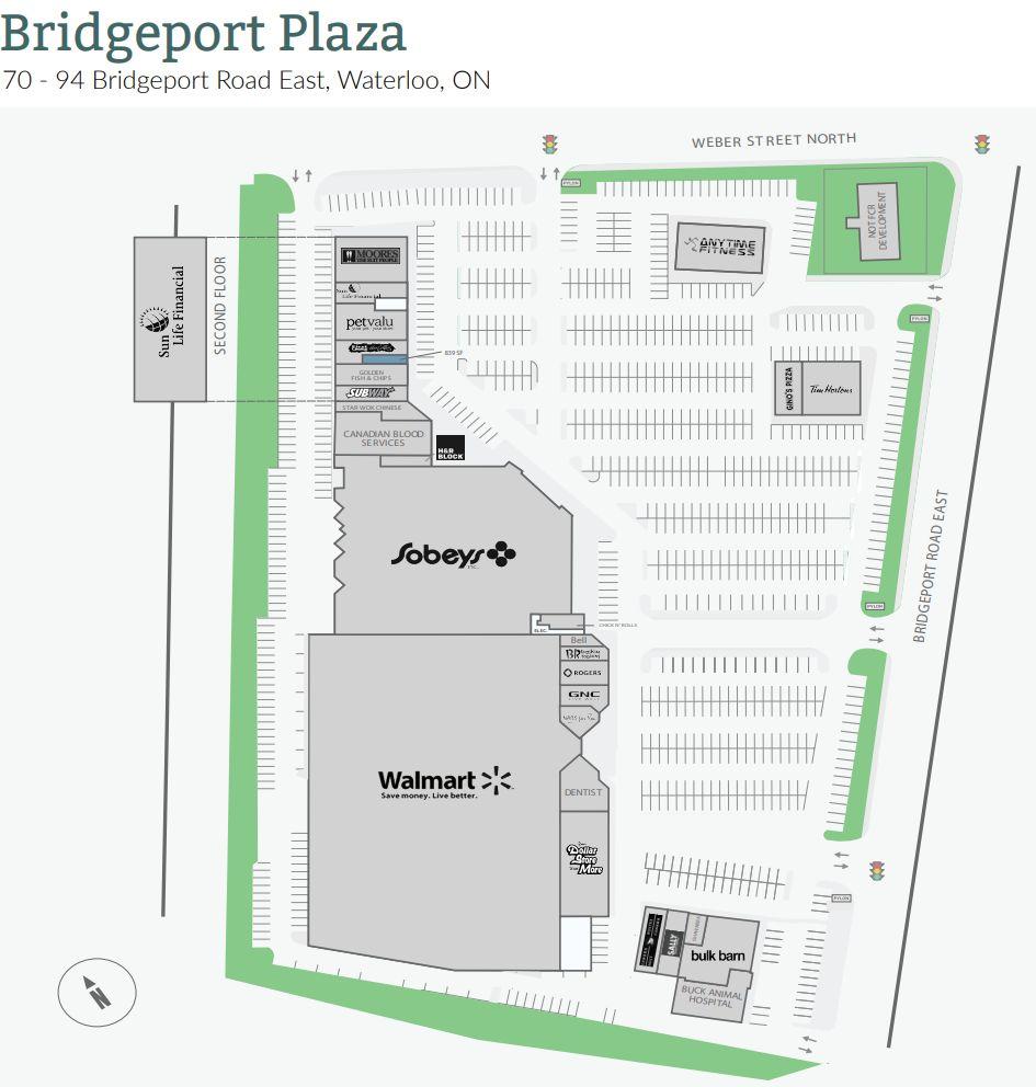 Bridgeport Plaza in Waterloo, Ontario - 26 stores - (location, hours ...