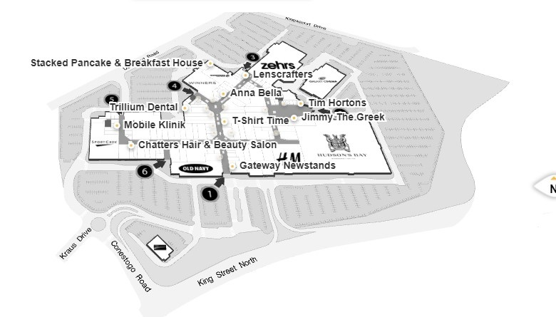 Conestoga Mall in Waterloo, Ontario - 127 Stores, Hours
