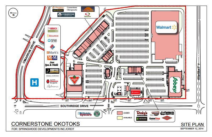 Cornerstone Okotoks in Okotoks Alberta 38 stores location