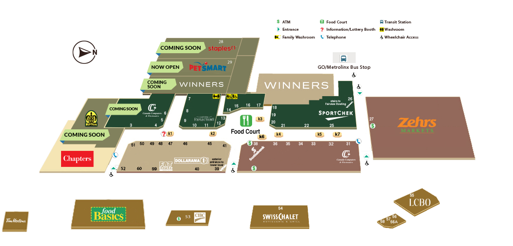 Gps Phone Locator >> Fairview Mall St. Catharines located in St.Catharines, Ontario (location, hours, store list ...
