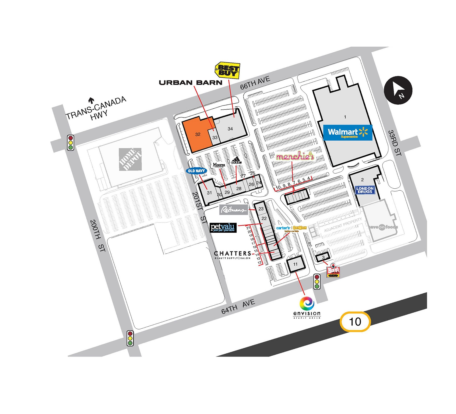Langley SmartCentre located in Langley British Columbia location hours st