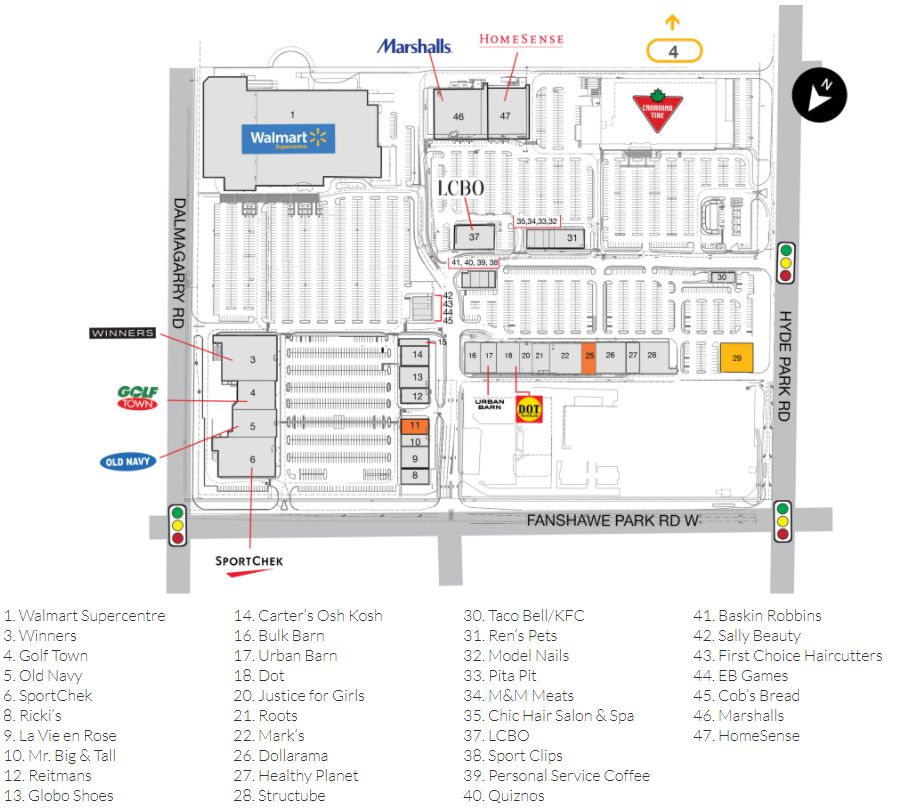 The Mall London Map.Smartcentres London North In London Ontario 52 Stores Hours