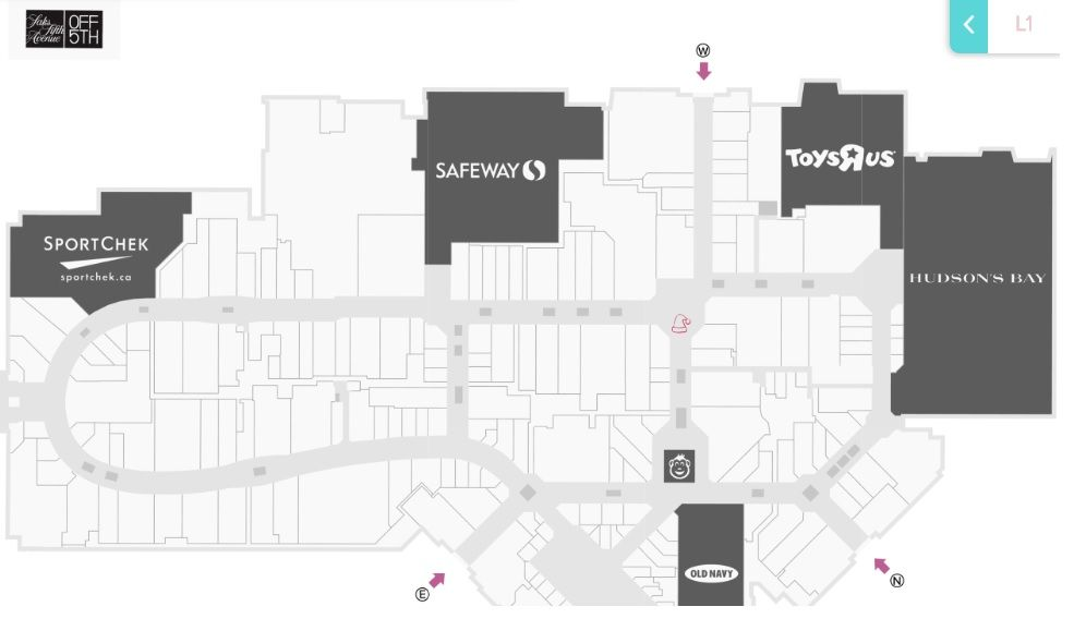Chinook Mall Map HOT TOPIC in CF Market Mall (Calgary, Alberta T3A 0E2) | Shopping