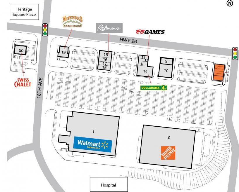 Owen Sound SmartCentre in Owen Sound Ontario 14 stores
