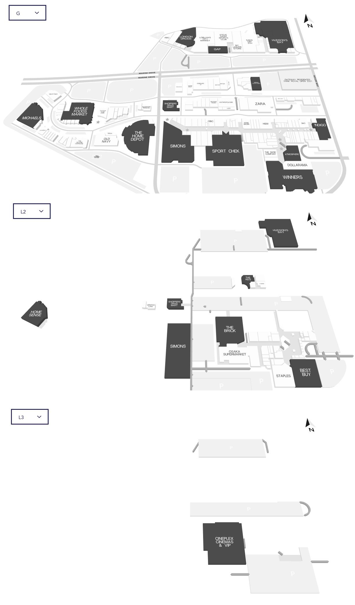 Mall Map View Plan