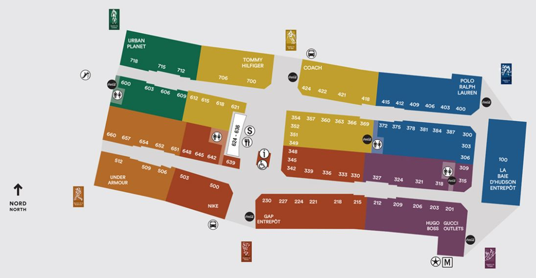 coach premium outlet online jzm1  Mall map : View mall plan
