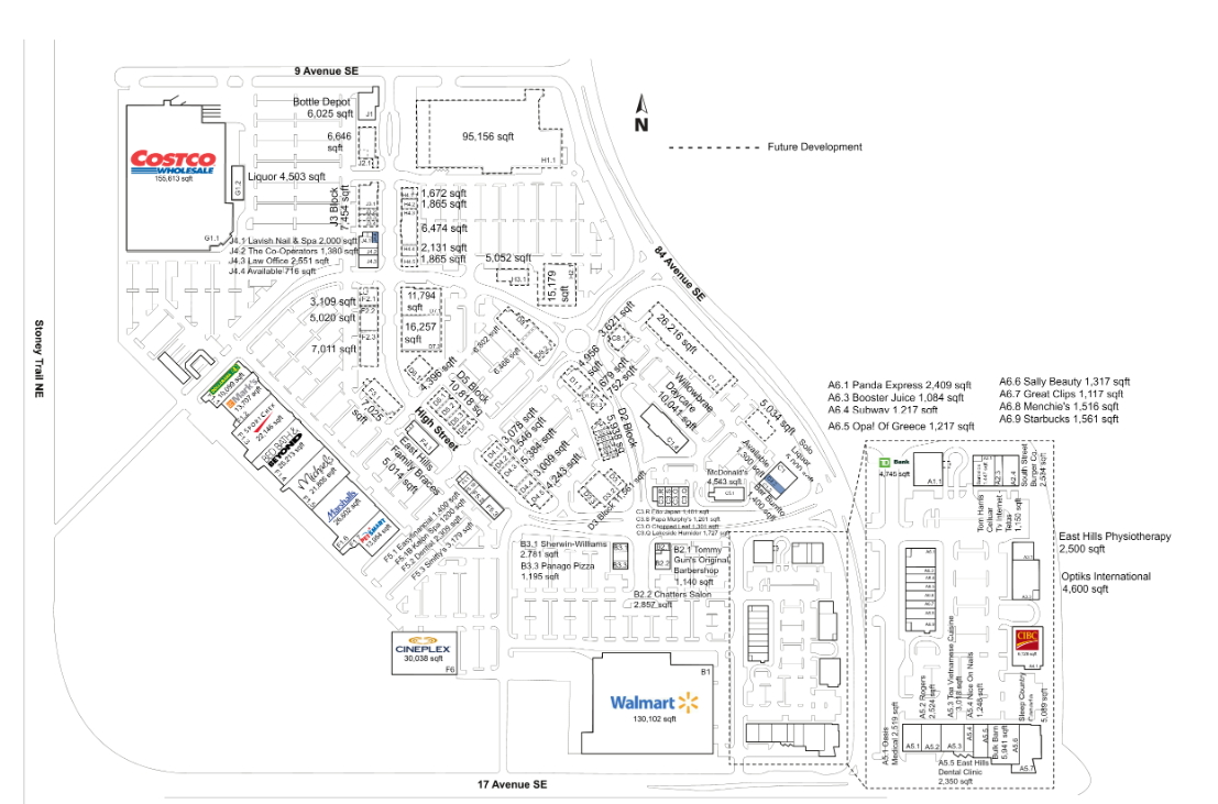 Calgary Subway Map.Riocan East Hills Shopping Centre In Calgary Alberta 53 Stores
