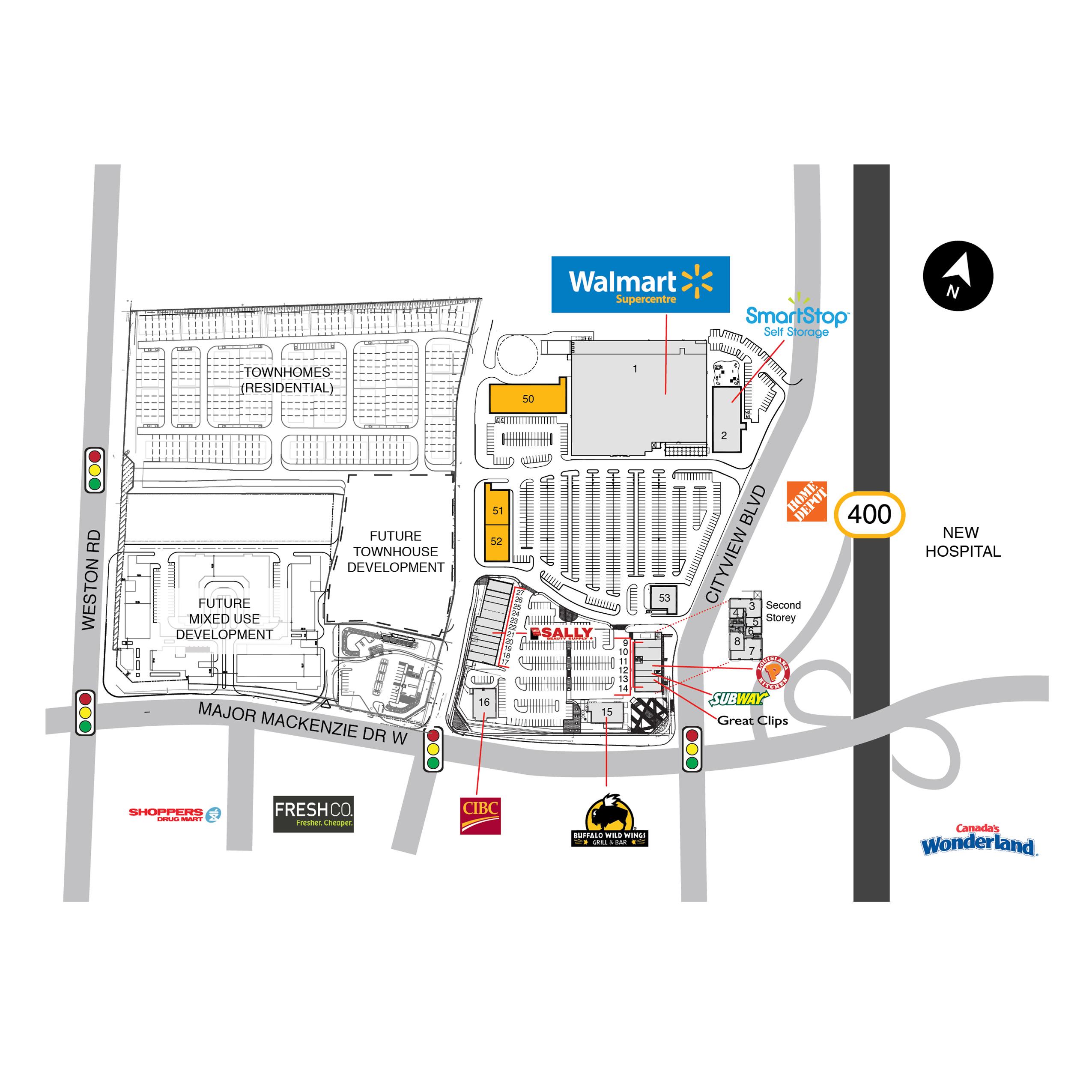 SmartCentres Vaughan Northwest in Vaughan Ontario 14 stores