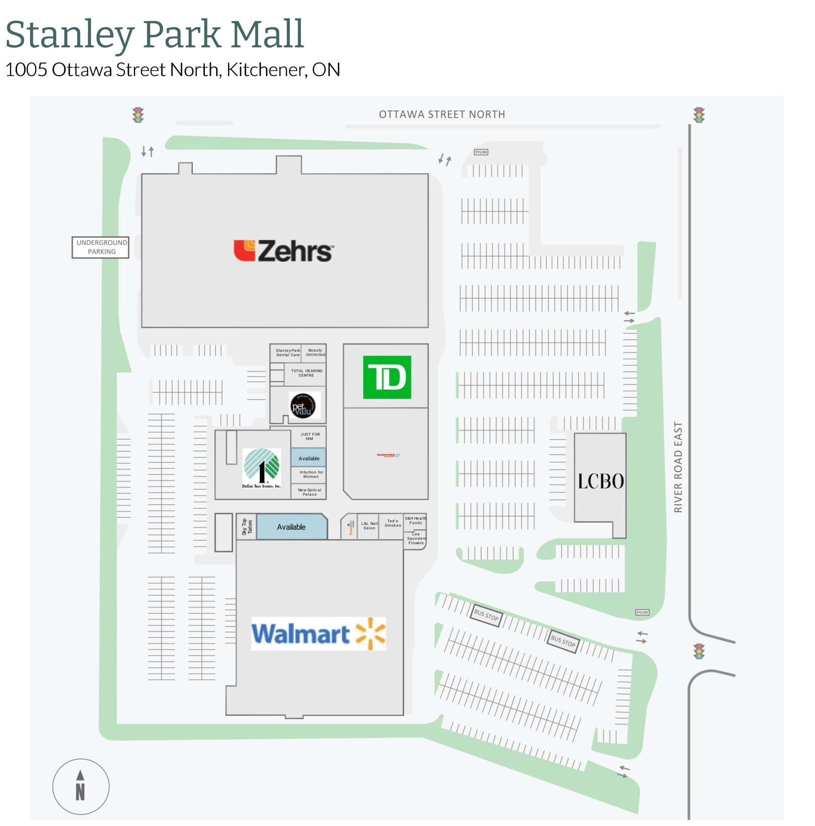 Stanley Park Mall in Kitchener, Ontario - 36 stores - (location ...