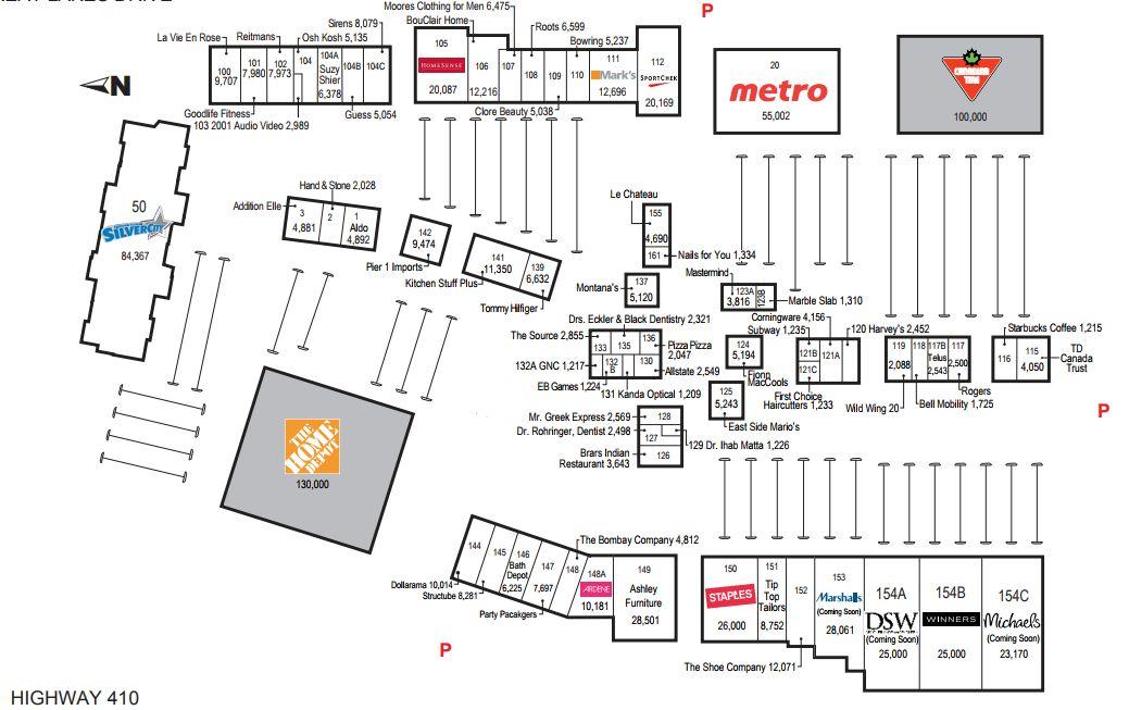 Brampton Canada Map.Trinity Common Mall Brampton In Brampton Ontario 69 Stores