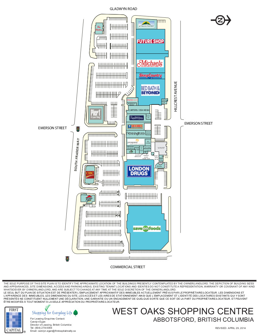 West Oaks Mall in Abbotsford, British Columbia - 32 Stores, Hours ...