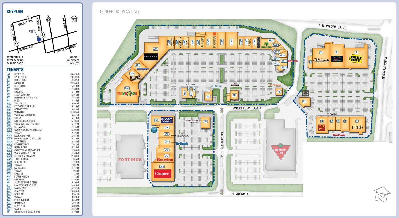 Westridge Power Centre in Vaughan Ontario 48 stores location
