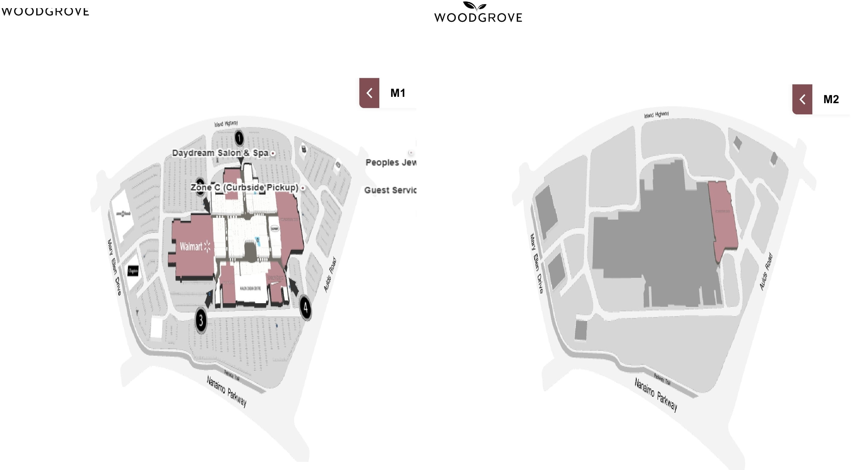 Woodgrove Centre located in Nanaimo British Columbia location hours store