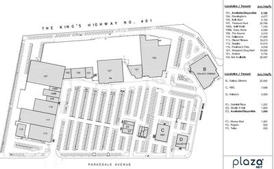 1000 Islands Mall plan