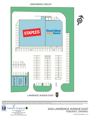 3434 Lawrence Avenue East plan