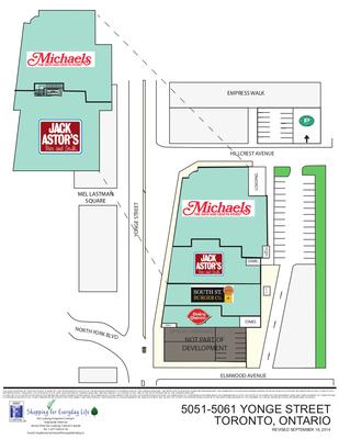 5051-5061 Yonge Street plan