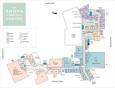 Bentall Centre plan