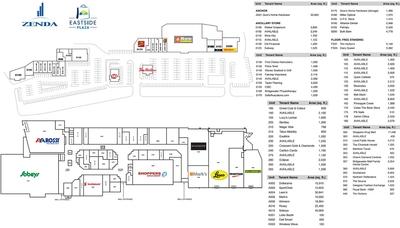 Bridgewater Mall & Eastside Plaza plan