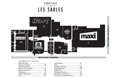 Carrefour Les Saules plan