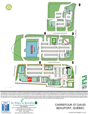 Carrefour St-David plan