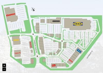 Carrefour de la Rive Sud plan