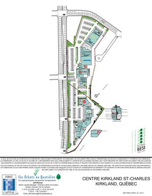 Centre Kirkland & Centre St-Charle plan