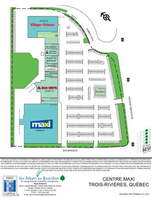 Centre Maxi Trois-Rivières plan