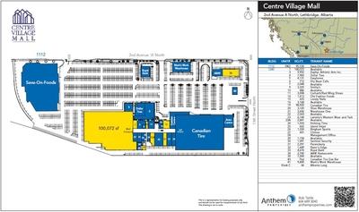 Centre Village Mall plan