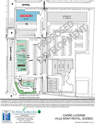 Centre d'achats Ville mount-Royal plan
