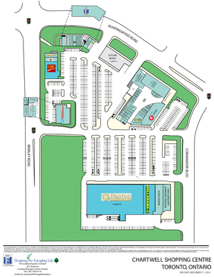 Chartwell Shopping Centre plan