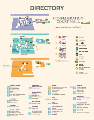 Confederation Court Mall plan
