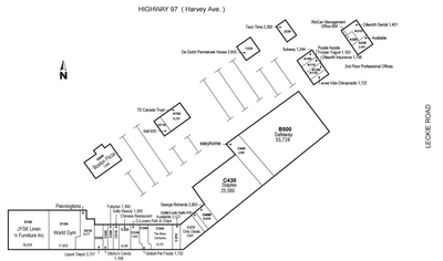 Dilworth Shopping Centre plan