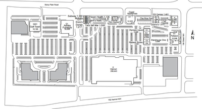 Edmonton West Retail Centre plan