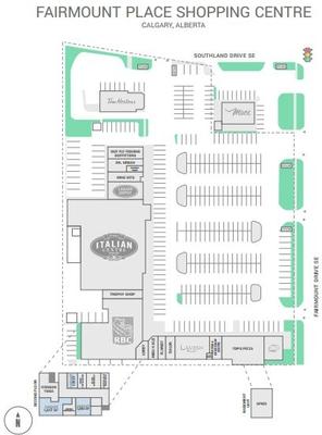 Fairmount Place Shopping Centre plan