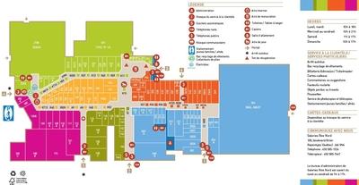 Galeries Rive Nord plan