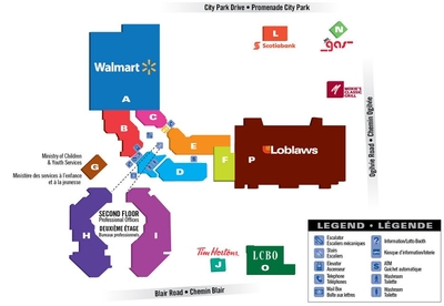 Gloucester Shopping Centre plan