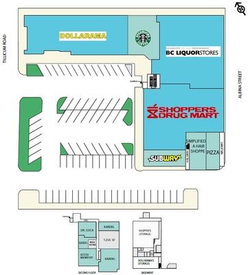 Gorge Shopping Centre plan