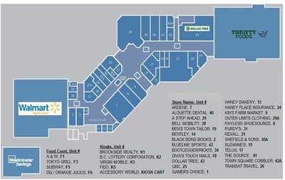 Haney Place Mall plan