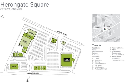 Herongate Square Mall plan