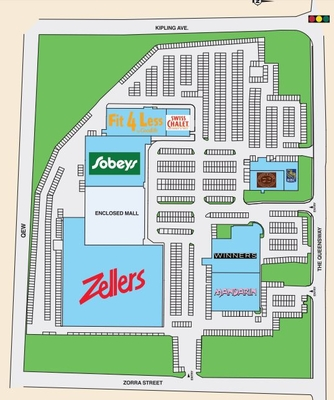 Kipling Queensway Mall plan