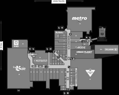 Le Boulevard Shopping Center plan