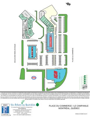 Le Campanîle & Place du Commerce plan