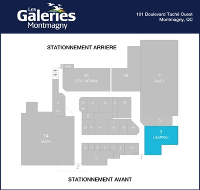 Les Galeries Montmagny plan