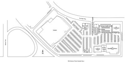 Lowe's Sunridge Centre plan